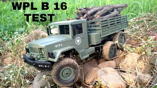 Unboxing, review & testing of 1:16 scale WPL B 16 RC military toy truck model.