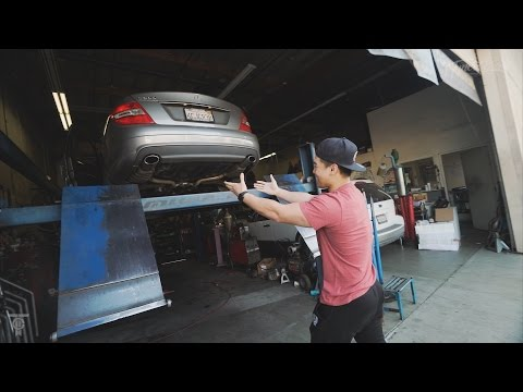 SO LOUD Mercedes Benz Dumped Exhaust