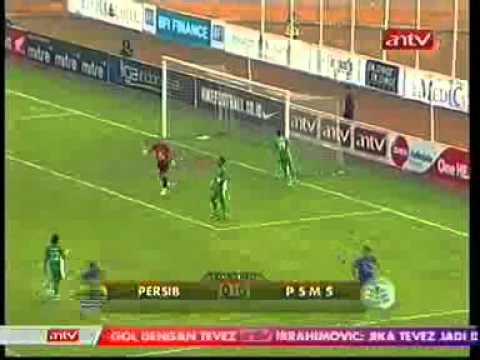 Persib Bandung vs PSMS Medan 3-1 - YouTube