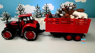 Animals Toys Surprise in Snow - Learn Animals Names Video For Kids