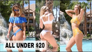 Cheap and Trendy Swim Favorites // High Cut, Velvet, Off the Shoulder, Knot Top