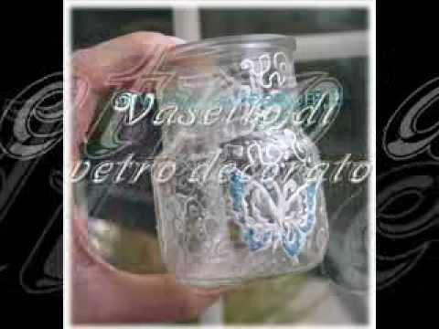 Vasetto di vetro decorato a mano tutorial youtube - Vasetti di vetro decorati ...