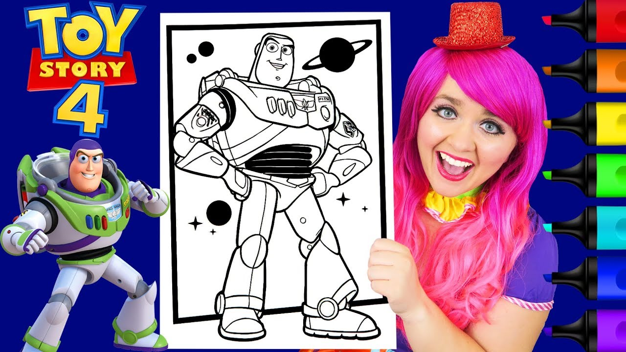 Coloring Toy Story 19 Buzz Lightyear Disney Pixar Coloring Page Prismacolor  Markers  KiMMi THE CLOWN