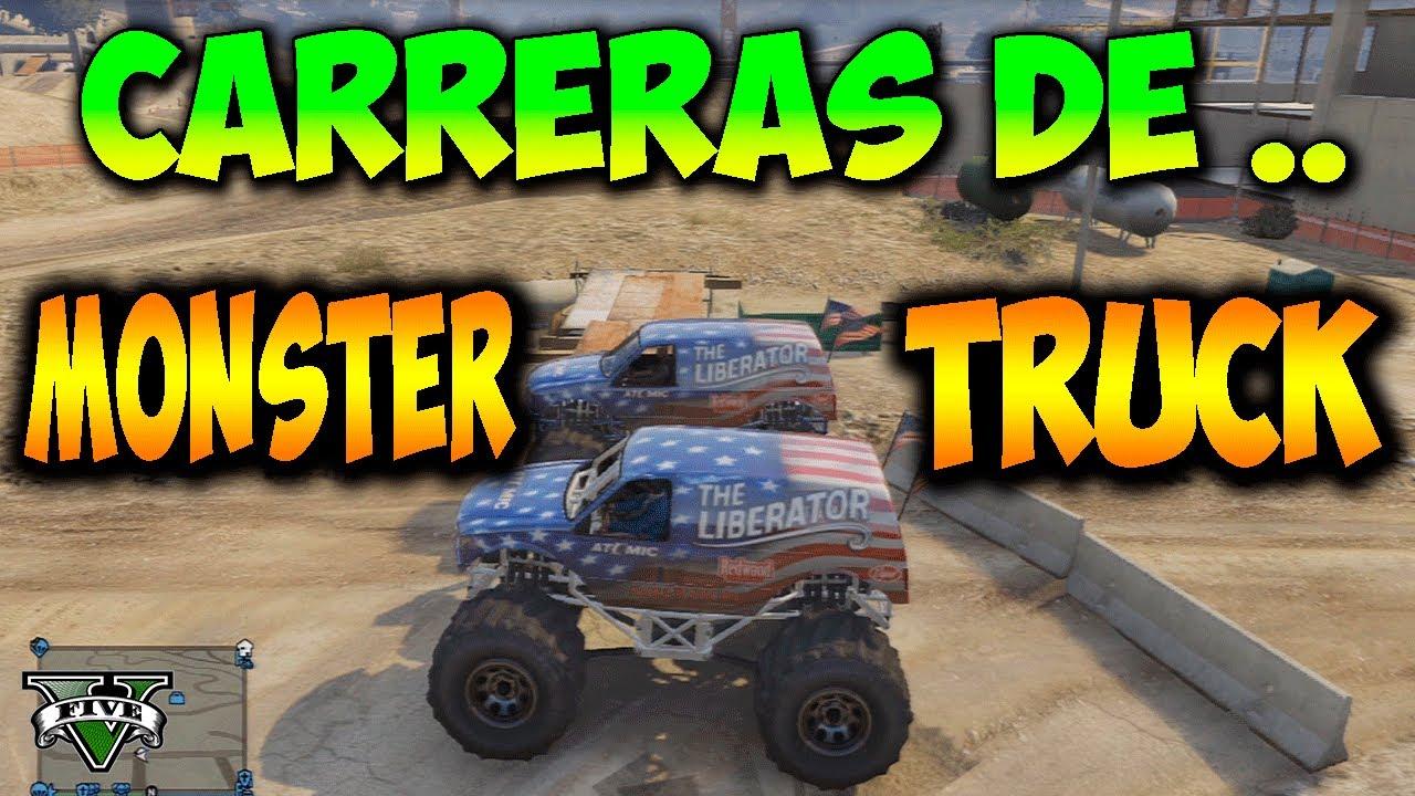 CARRERAS DE MONSTER TRUCK  GTA V ONLINE Carrera improvisada en