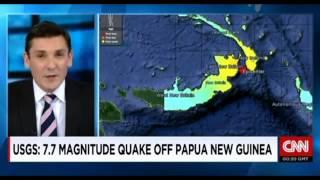 Breaking News Tsunami  Earthquake strikes near Papua New Guinea
