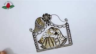 bridal mehendi BRIDE SITTING  in DOLI intricate mehendi designs :hindi