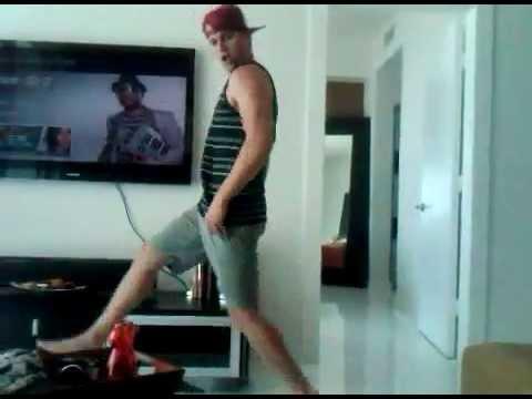 Randy Wayne dancing like a fool.