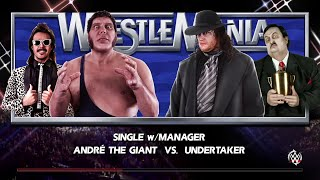 WWE 2K15- Undertaker vs Andre The Giant Normal Match at Wrestlemania 2015 (PS4)