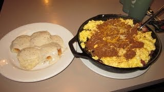 5lb Breakfast Skillet Challenge Record W/ Biscuits & Gravy | Randy Santel