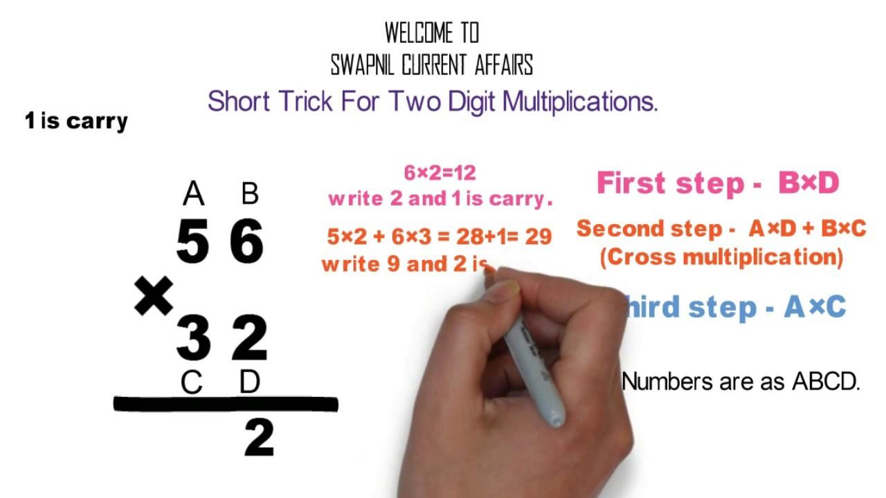 SHORT TRICK FOR TWO DIGIT MULTIPLICATION VEDIC MATHS वैदिक ...