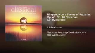 Rhapsody on a theme of Paganini, Op. 43, Variation XVI: Allegretto