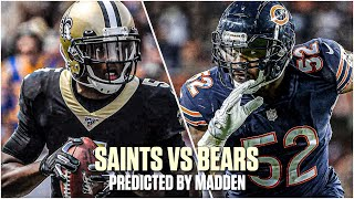 New Orleans Saints VS Chicago Bears PREDICTED BY MADDEN! | NFL Week 7 Predictions