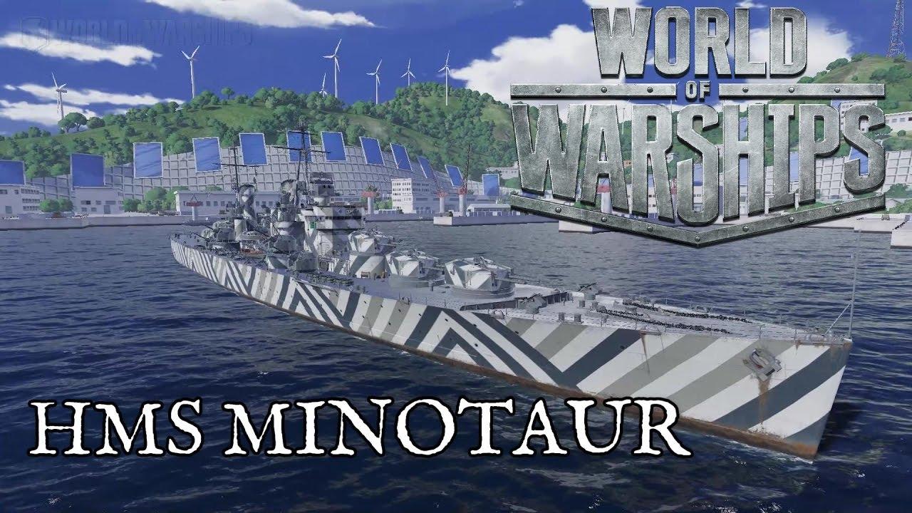 World of Warships - HMS Minotaur - YouTube