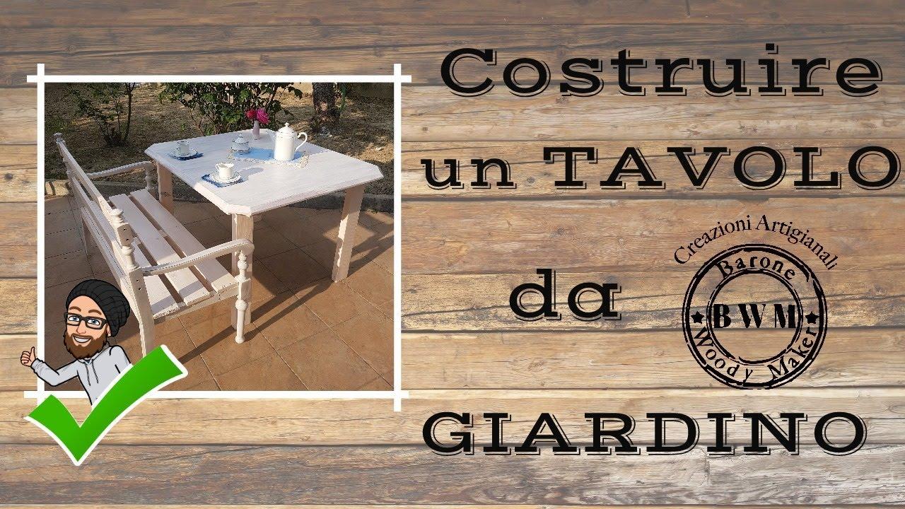 Costruire Un Tavolo Da Giardino.Costruire Un Tavolo Da Giardino Youtube