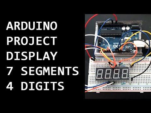 Project Arduino 001 v1 - display de 7 segmentos 4 digitos (7 segment display 4 digits)