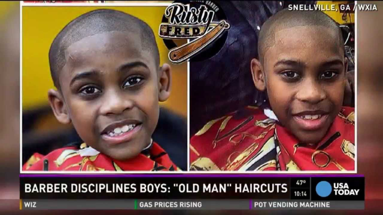 Barber Offers Old Man Haircuts For Misbehaving Kids