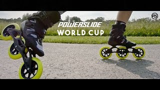 Powerslide WORLD CUP Triskate 2019 - 125mm 3 wheel racing inline skates