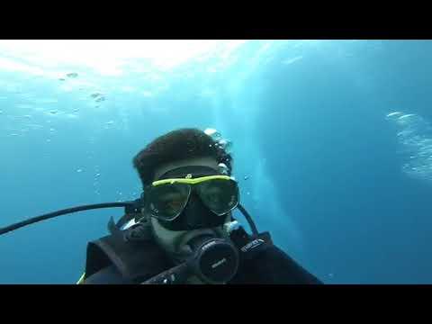 Scuba Diving off the coast of Komodo Island Indonesia with Manta Rays 1