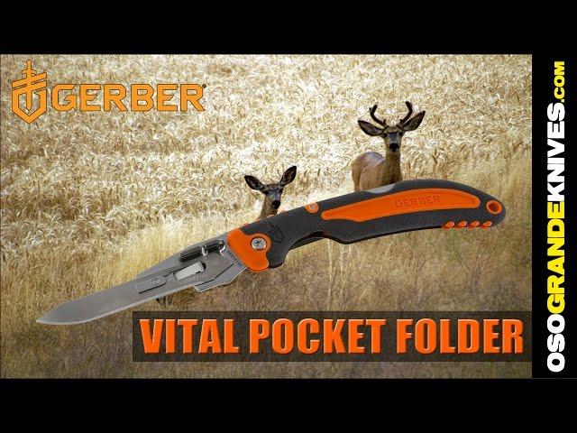 31-002736_Gerber Vital Pocket Folding Exchange-A-Blade Hunting Knife | OsoGrandeKnives