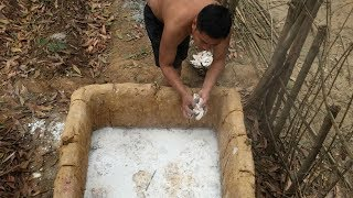 Primitive Technology:Lime Kiln-part 2-success rate:from 30% to 70% Primitive life! thumbnail