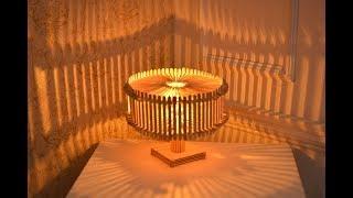 KREATIF!! cara membuat lampu tidur cantik dari stik eskrim part 2