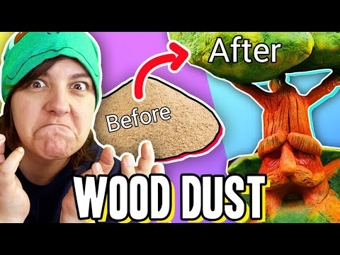 FRUSTRATING!! TRYING TO Make a Sculpture Out of Wood Dust Clay #teamtrees craft challenge