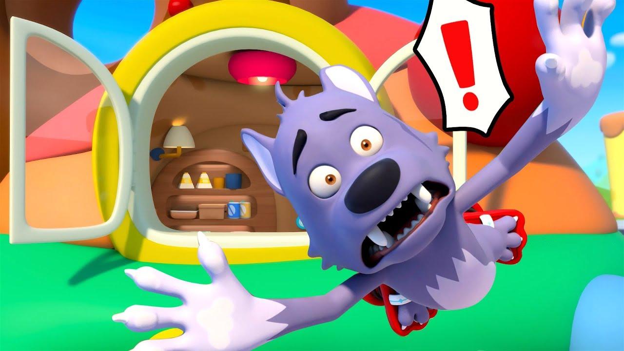 Big Bad Wolf Ran up the Roof | Baby Shark, Colors Song | Kids Songs | Kids Cartoon | BabyBus