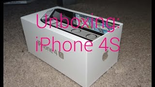 iPhone 4S Unboxing (Black, 16GB)(Yes, I am making a video for once. My 'new' phone; i4S., 2015-02-19T05:27:09.000Z)