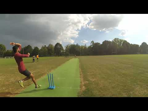 Summer cricket training on our scenic cricket ground, Dresden, Germany.