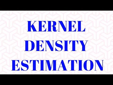 Kernel Density Estimation(KDE) : Non Parametric Statistical