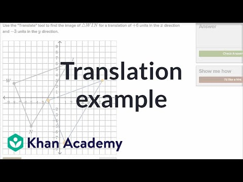 Translation Example | Transformations | Geometry | Khan Academy