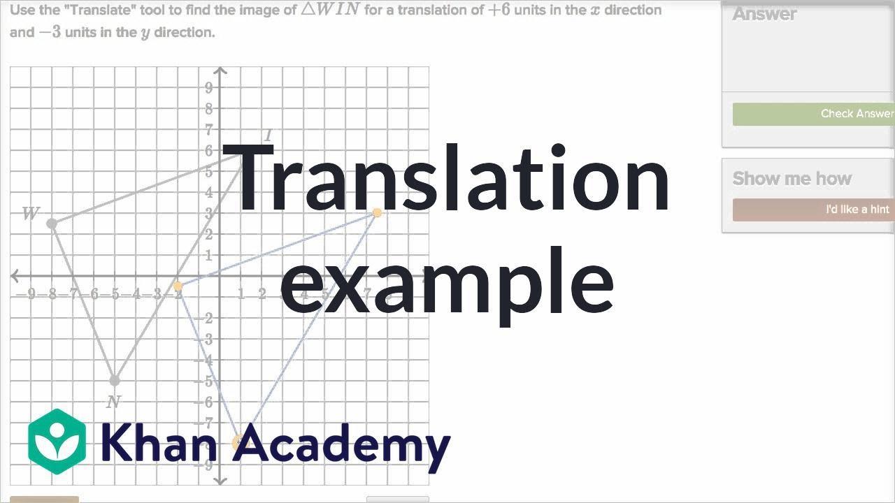Performing translations (video)  Khan Academy