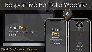 Responsive Portfolio Website [6] - Work & Contact Pages