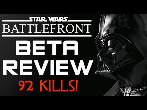 92 KILLS! Star Wars Battlefront Beta First Impressions and Review (Battlefront Gameplay)