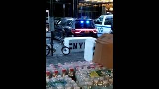 NYPD Manhattan Borough Commander Stops By NYPD TD2 In Columbus Circle