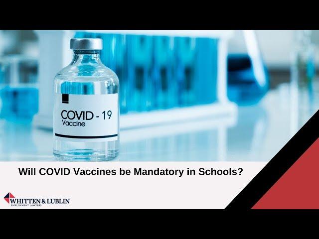 Will COVID Vaccines be Mandatory in Schools?  - Ryan Watkins on CBC News