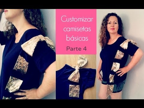 Diy customizar camisetas b sicas con cinta de lazo parte 4 - Lazos con cintas ...