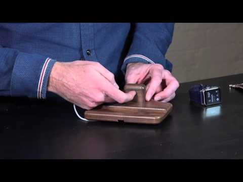 Crafted Wooden Apple Watch Stand | Timber Nightstand for Apple Watch by Pad & Quill Review