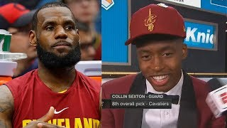LeBron James Called Out & Begged To Stay In Cleveland By New Cavaliers Player Collin Sexton!