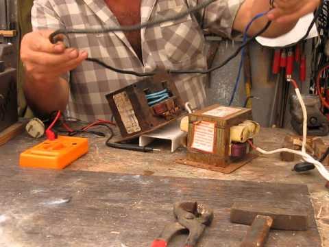 Трансформатор для микроволновки своими руками 24
