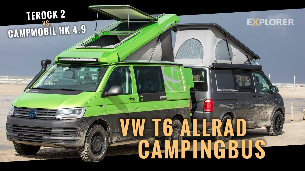 vw t6 allrad campingbus vergleichstest terock 2 vs. Black Bedroom Furniture Sets. Home Design Ideas