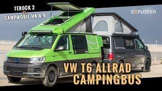 VW T6 Allrad Campingbus Vergleichstest - Terock 2 vs. Campmobil HK 4.9