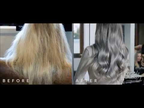 grey silver balayage by Trendz Hair Studio