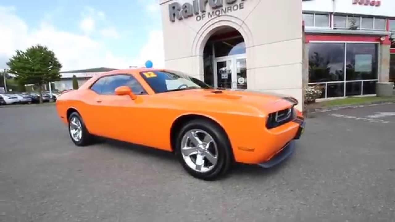 2012 Dodge Challenger Sxt Header Orange Clearcoat
