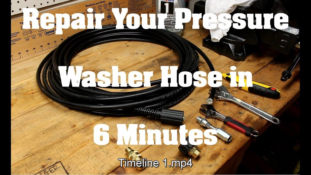 How To Repair A Pressure Washer Hose In 6 Minutes Any Brand Gas Or Electric Youtube