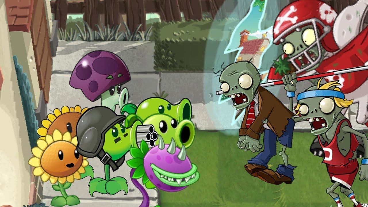 Plants Vs Zombies 2 Animation Pvz 1 In Pvz 2 Part2 Cartoon