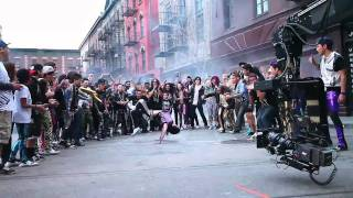 ON SET Of Party Rock Anthem With QUEST CREW