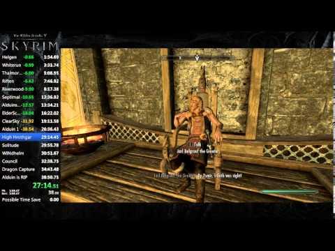 Skyrim Speedrun (Old World Record) 38:06