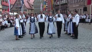 Tanzgruppen Niedersachsen: Figurentanz zum Radetzky-Marsch - Dinkelsbühl 2010 - Volkstanz