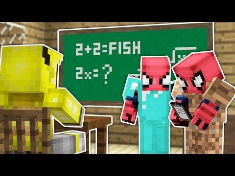 Fakir Örümcek Adam'ın Karne Günü - Minecraft Zengin Vs Fakir Örümcek Adam